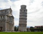 A photo of the leaning tower of Pisa