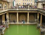A photo of a Roman bath in the town of Bath