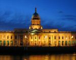 A photo of Custom House at night
